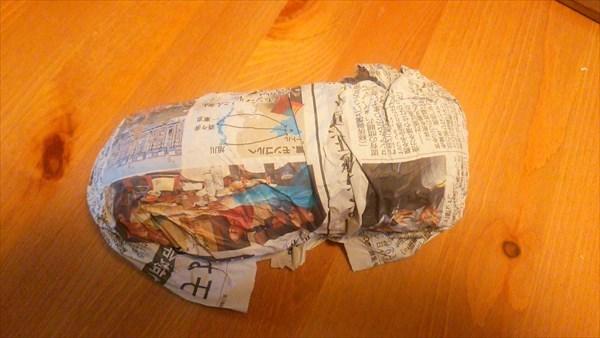 さつまいも 新聞紙で包む