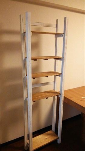 【DIY】キッチンの隙間に収納できるアンティーク調の棚を作ってみた ・その2