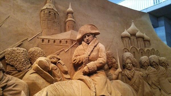 砂像 ナポレオンの撤退