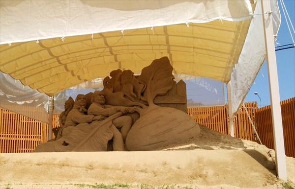 砂像 大きなかぶ