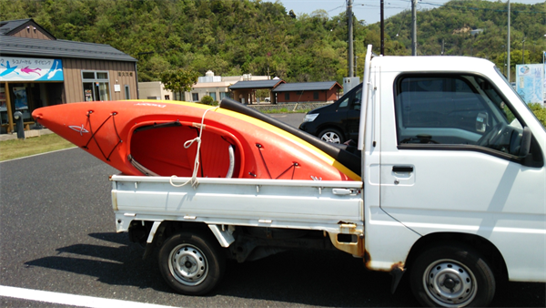 鳥取自然体験塾 軽トラ