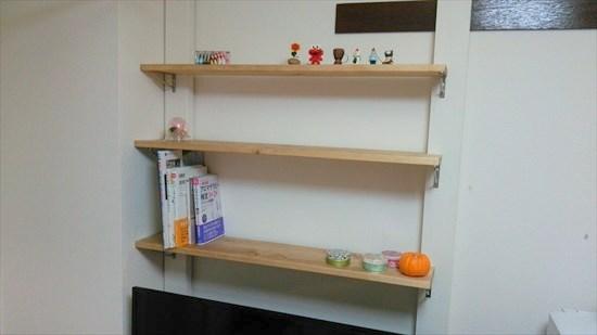 【賃貸DIY】ディアウォールを使ってテレビの上に棚を作ってみた!【写真あり】