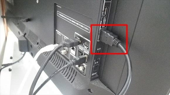 テレビにHDMI端子をつなげる