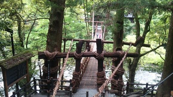 祖谷のかずら橋に到着!