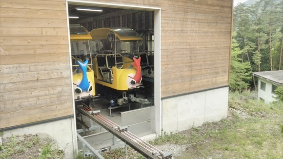 奥祖谷観光周遊モノレール ちらっと見えるモノレール