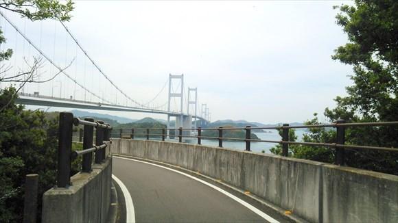 来島海峡大橋を渡りきった!
