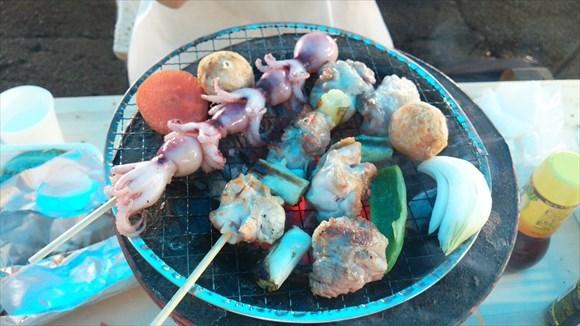 よしうみいきいき館 海鮮バーベキュー 贅沢!