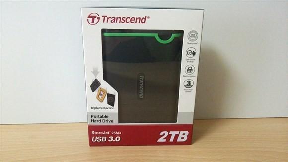transcendのポータブルHDD 外箱
