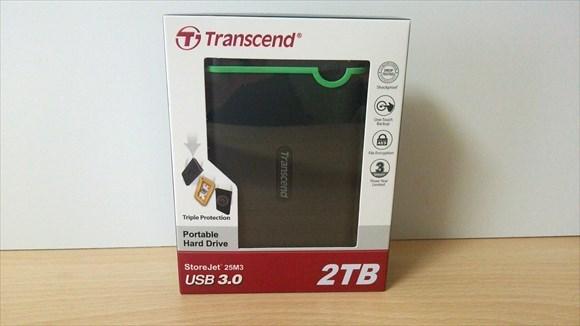 バックアップ用に2TBのポータブルハードディスク購入したぜよ!【Transcend】