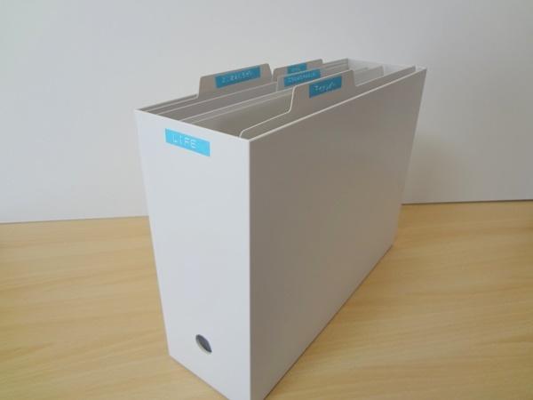 無印ファイルボックス ダイモのラベル