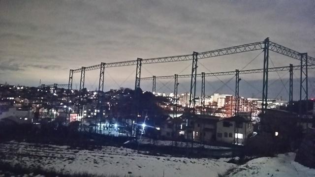 スマホ「SHL23」で撮影した夜景ショット