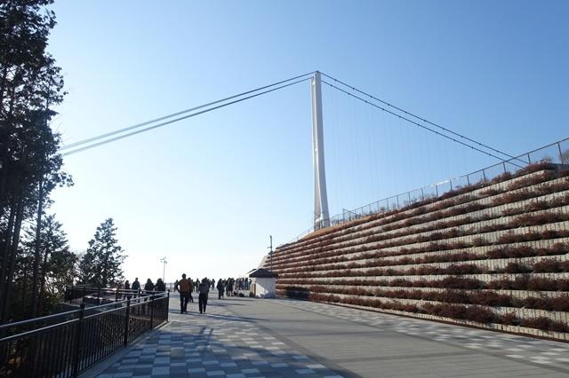 三島スカイウォーク つり橋に至る道