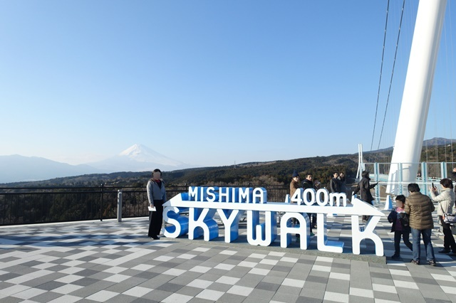 三島スカイウォーク 定番の撮影スポット