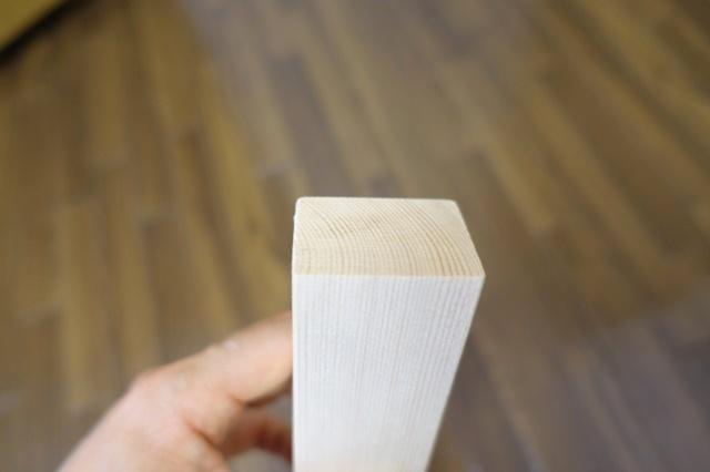 ソーガイドで木材カット完了