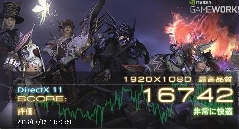 FF14 ベンチマーク計測 GALLERIA XF