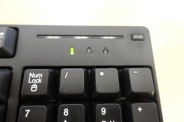 GALLERIA付属のキーボード Modeボタン
