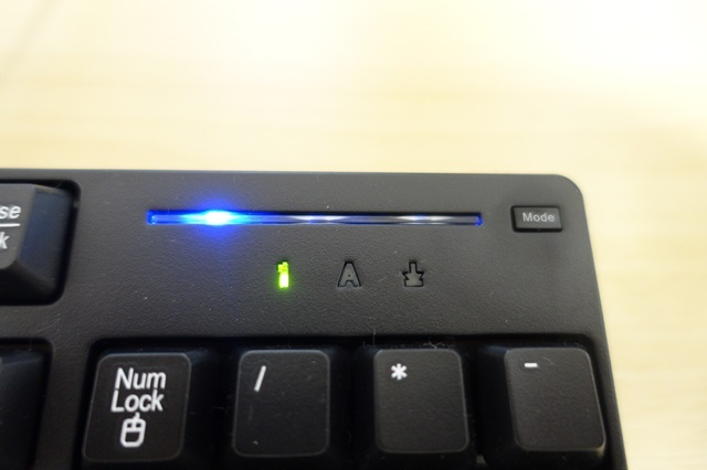 GALLERIA付属のキーボード Modeボタン押してみた