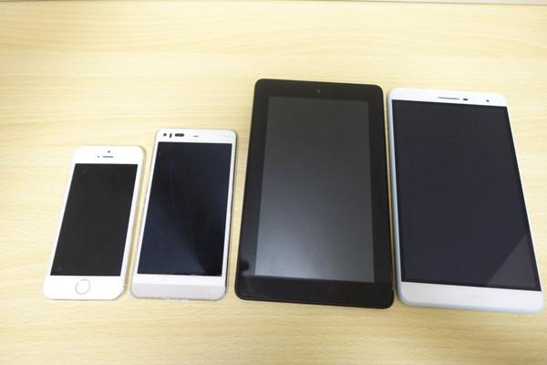 MediaPad T2 7.0 Pro 大きさ比較