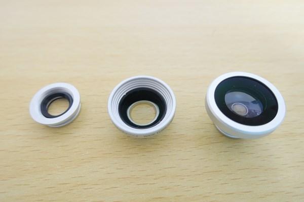 dodocool 3-イン-1 カメラレンズキット レンズは3種類