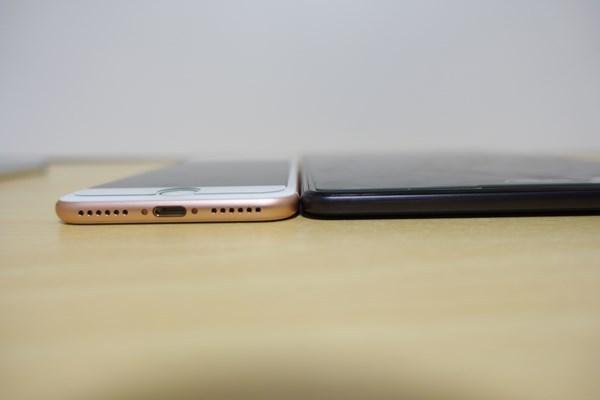 ZenPad 3 8.0 iphone7と厚み比較