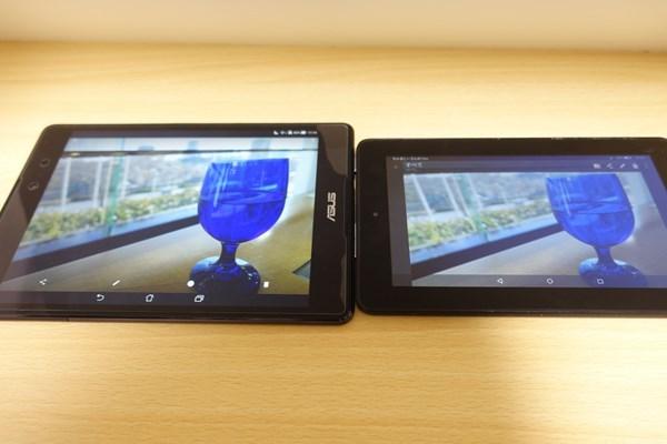 ZenPad 38.0とFire タブレットの液晶比較