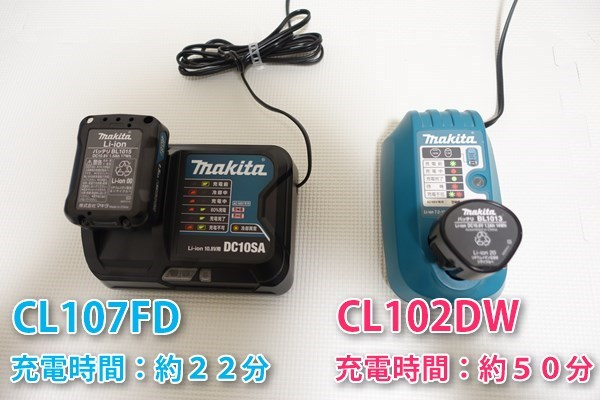 CL107FDとCL102DWの比較2