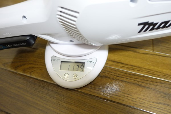 CL107FDSHWの重さを量る2