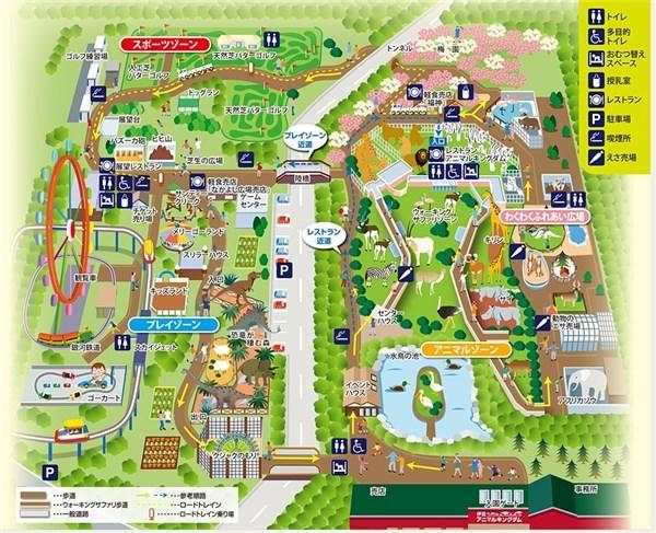 アニマルキングダム 園内マップ