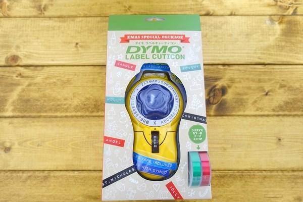 レトロで可愛いテープライターダイモ(DYMO)にクリスマス限定パッケージが出たよ!文字のサンプルと使い方の紹介。