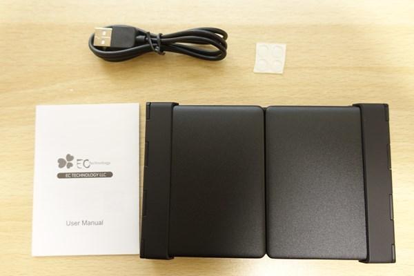 EC Technology Bluetoothキーボード 折りたたみ式 付属品