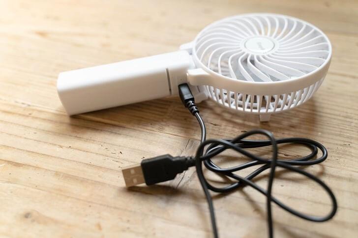 easy acc 充電方法 扇風機